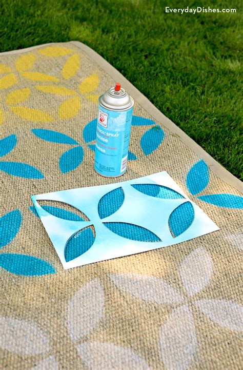 diy outdoor rug diy stenciled outdoor rug