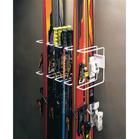 Sports Storage Rack by Wall Mount Four Ski Storage Rack In Sports Equipment