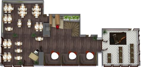 3d Room Planner Free restaurant floor plan roomsketcher