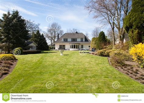 small house big backyard villa with big yard stock photo image of large spacious