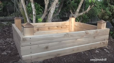 build a raised bed garden building a raised garden bed in an hour on
