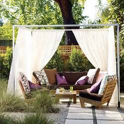 outdoor fabric canopy diy newlyweds diy home decorating ideas projects