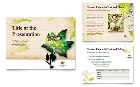 landscape brochure template landscape design flyer ad template design