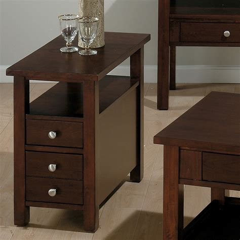 Jofran small space milton cherry chairside table at hayneedle