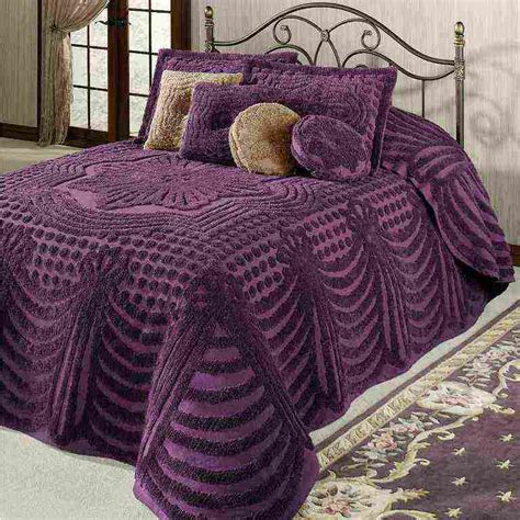 Purple Chenille Bedspread Purple Chenille Bedspread Decor Ideasdecor Ideas