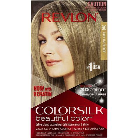 revlon brown hair color revlon colour silk hair colour 60 ash brown each