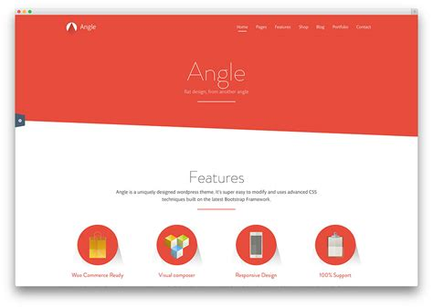 design themes for websites 40 awesome flat design wordpress themes 2017 colorlib