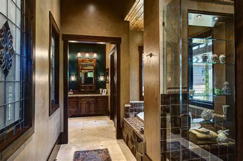 lodge style bathroom lodge style master bath