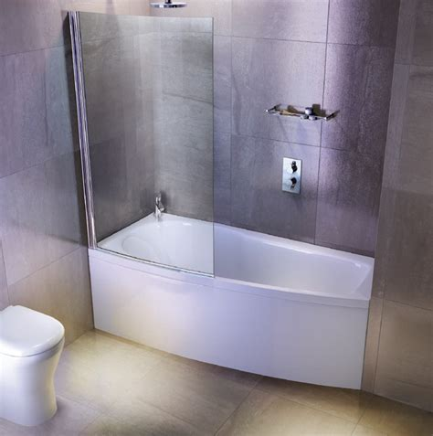 space saver shower bath cleargreen ecocurve 1700 x 750 shower bath with front