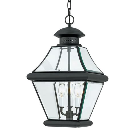 Quoizel Pendant Lights Shop Quoizel Rutledge 19 In Mystic Black Outdoor Pendant Light At Lowes