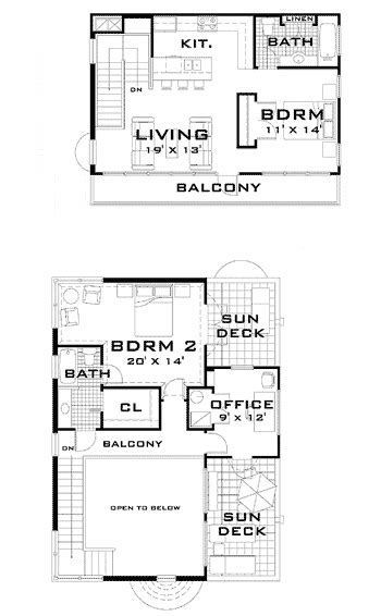 art deco floor plans art deco home plan 44025td 1st floor master suite 2nd