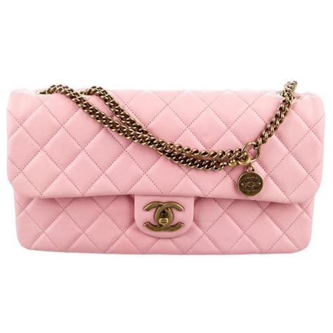 Chanel Calfskin Logo Flap Bag by Chanel Cc Crown Flap Classic Quilted Medium Small 13c
