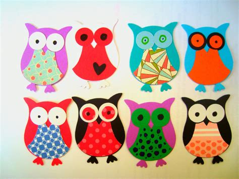 Paper Owls - stin up paper owls scrapbooking embellishments by