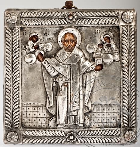 Handcrafted By St - nicholas the wonderworker handmade metal icon