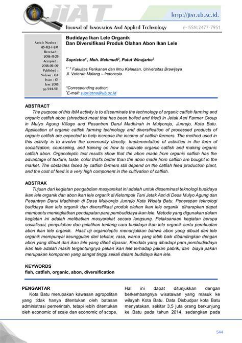 budidaya ikan lele organik  diversifikasi produk