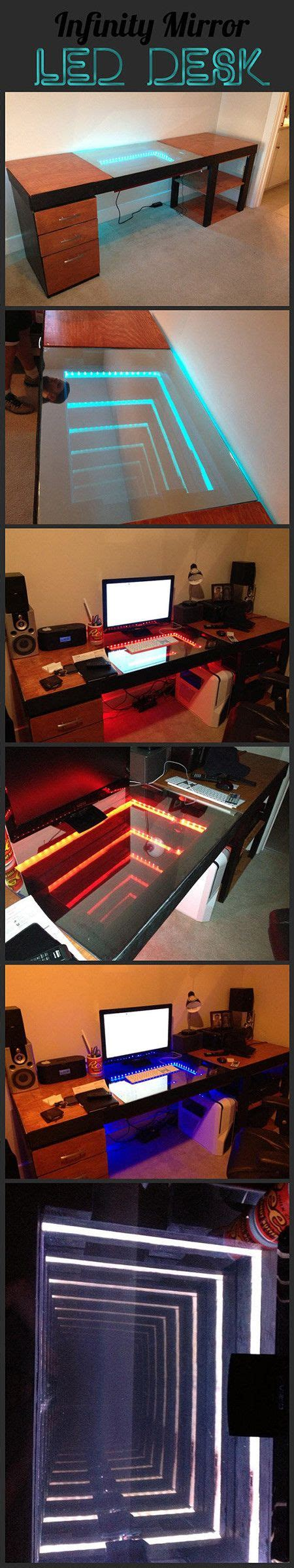 infinity mirror computer desk 130 best images about computer science on pinterest