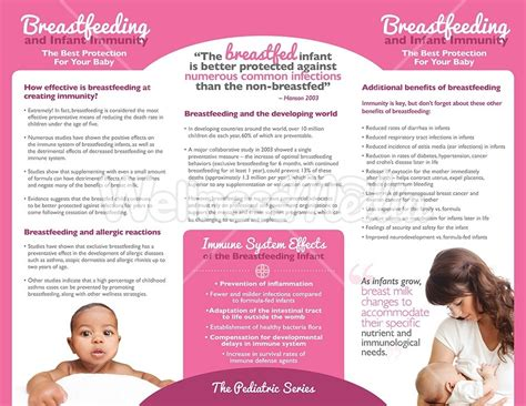 breastfeeding and infant immunity brochure