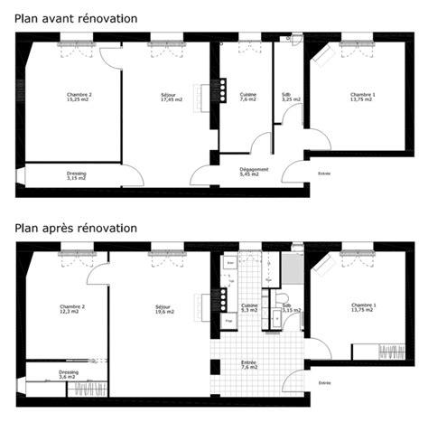 Plan Appartement 65m2 by R 233 Novation Compl 232 Te D Un Appartement 3 Pi 232 Ces 60m2