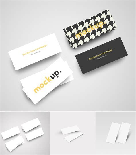 Slim Business Card Template free psd mockup templates 28 mockups freebies