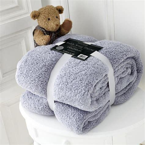 luxury fleece blanket teddy throw for sofa
