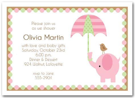 girl baby shower invitations cloveranddot com