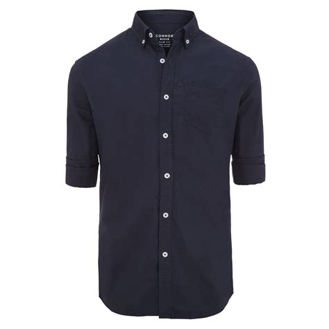 Cs Slim Casual navy chapman slim casual shirt by connor shop our s
