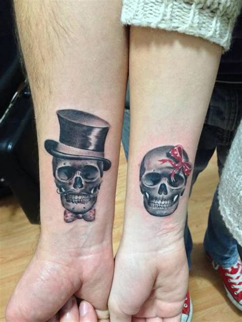 couple tattoos gallery mister and missis skeleton best