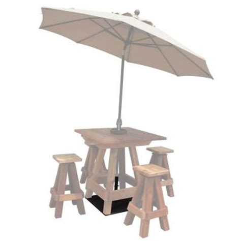 Patio Umbrella Stand Table Gronomics Patio Picnic Table Umbrella Stand With Mounting Plate Usmp 28 28 The Home Depot