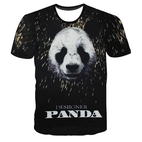 limited rappers with puppies summer s 3d print skull panda sleeve cool hip hop