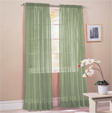 60 inch wide curtains sold by hlc me sage linda sheer voile panel curtain