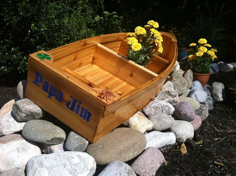 Wooden Lawn Decorations by Nautical Wooden Outdoor Landscape All Cedar Boat Garden