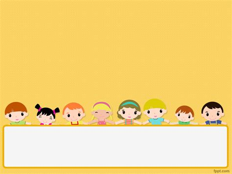 Fppt Com Free Children S Day Powerpoint Template Is A Template With Children Illustration That Free Powerpoint Templates For Children