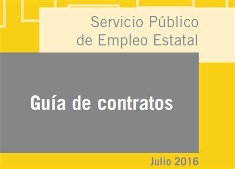 contrato colectivo de educacion 2016 gu 237 a de contratos de trabajo sepe actualizada a julio 2016