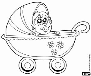 coloring pages baby carriage baby the littlest one coloring pages printable games