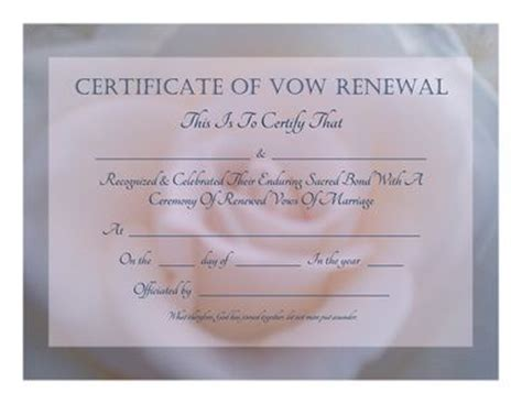 sle of marriage vows free printable vow renewal certificate soft pink