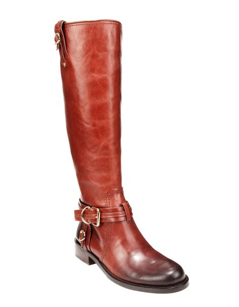 leather boots vince camuto kabo high leather boots in brown cognac