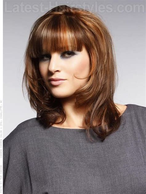 shoulder length lightly layered hair square face 23 perfect medium hairstyles for square faces popular for