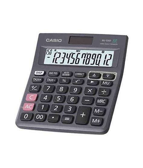 casio calculator casio check correct 12 digit calculator mj 120d buy