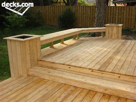 Wood Deck Seating Ideas