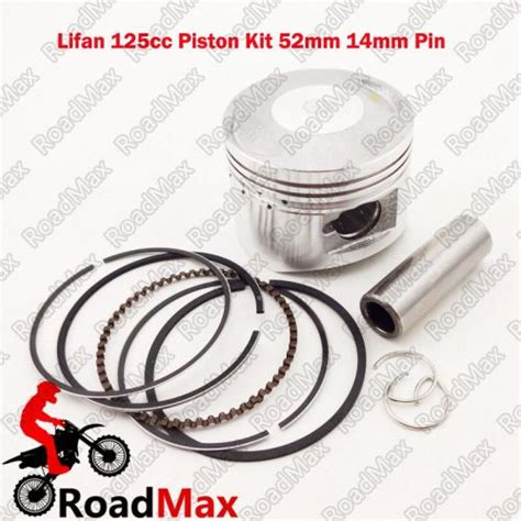 Piston Kit 52mm Pin 13 52mm piston 14mm pin for lifan 125cc for sale on 2040 motos