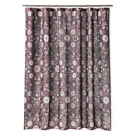 Com Threshold Medallion Shower Curtain Purple