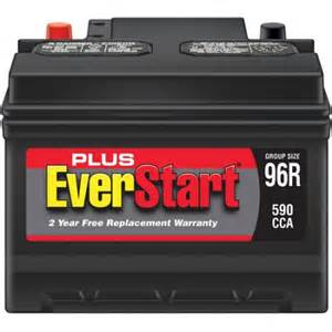 Car Battery Price Walmart Everstart Plus Automotive Battery Size 96r