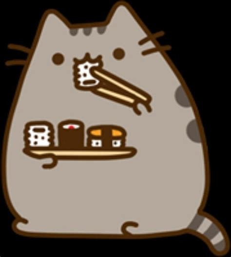 pusheen eating sushi pusheen pinterest sushi  pusheen