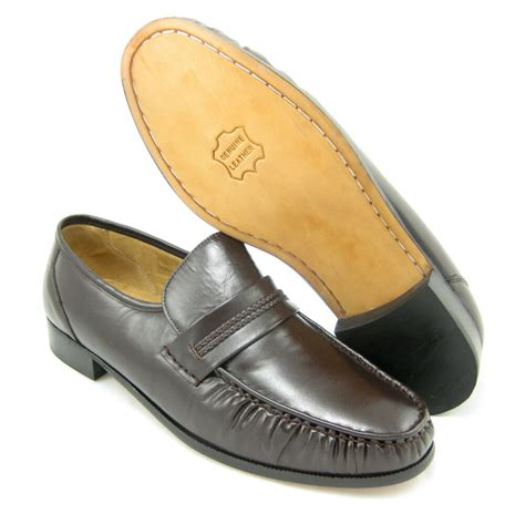 X Dress Shoes by Climate X 21592 4 Eee Wide Width Mens Brown Slip On Loafers Leather Dress Shoes Ebay