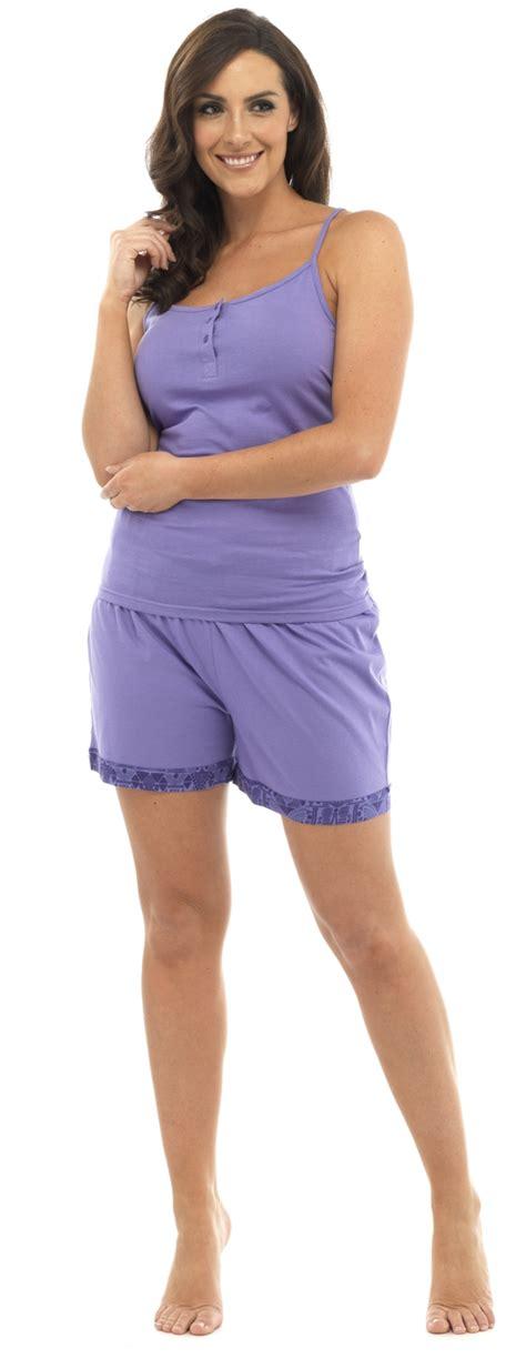 Pyjamas Set Toppants Size Ml womens pyjamas 2 set nightwear vest top shorts