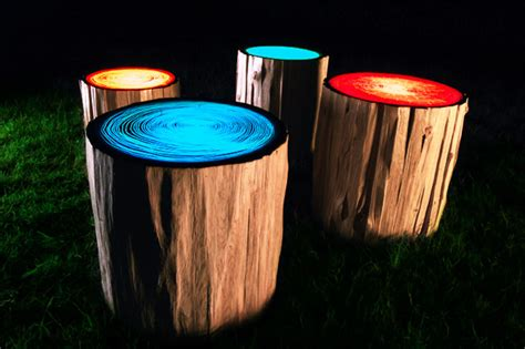 Funky Outdoor Lighting Tree Ring Lights By Judson Beaumont Colossal
