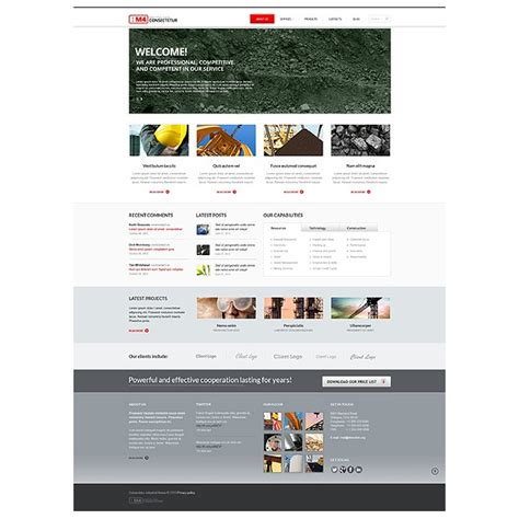 bootstrap templates for construction construction bootstrap website template 43787 discounted