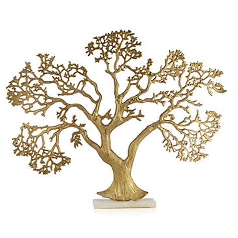 golden tree on marble | objects of art | decor | z gallerie