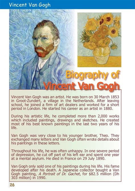 Biography Of Vincent Van Gogh | who painted the starry night know it all