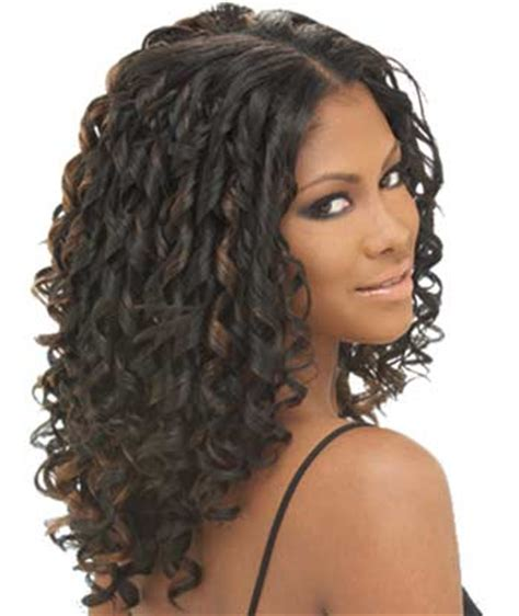 Curly Hairstyles For Black With Weave by Curly Weave Hairstyles Beautiful Hairstyles